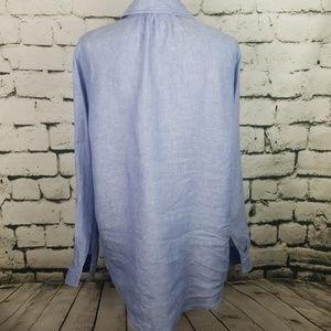 Jones New York Tops - Jones New York 100% Linen Tunic Top Large
